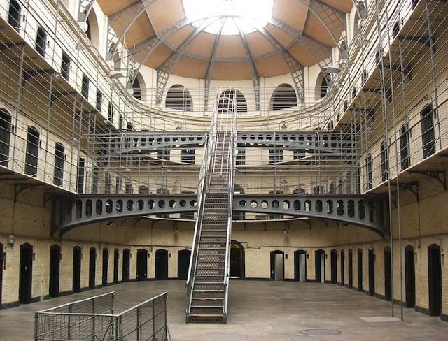 Kilmainham Gaol, a former panopticon-style prison
