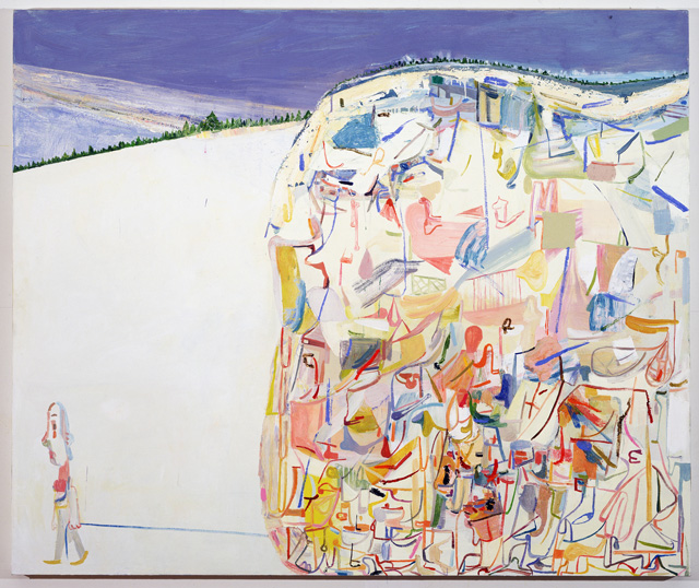 """Amy Sillman, """"Me & Ugly Mountain"""" (2003),  oil on canvas, 60 x 72 inches, collection of Jerome and Ellen Stern (photo by John Berens)"""