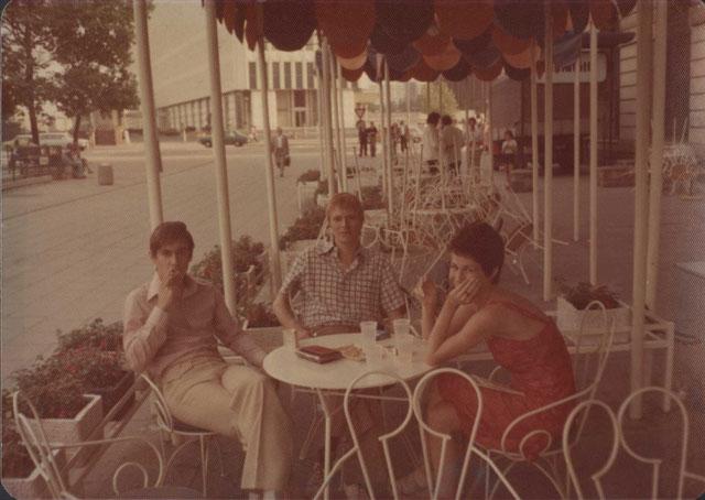Iggy Pop, David Bowie, Coco Schwab, East Berlin, (1977) (courtesy the David Bowie Archive)