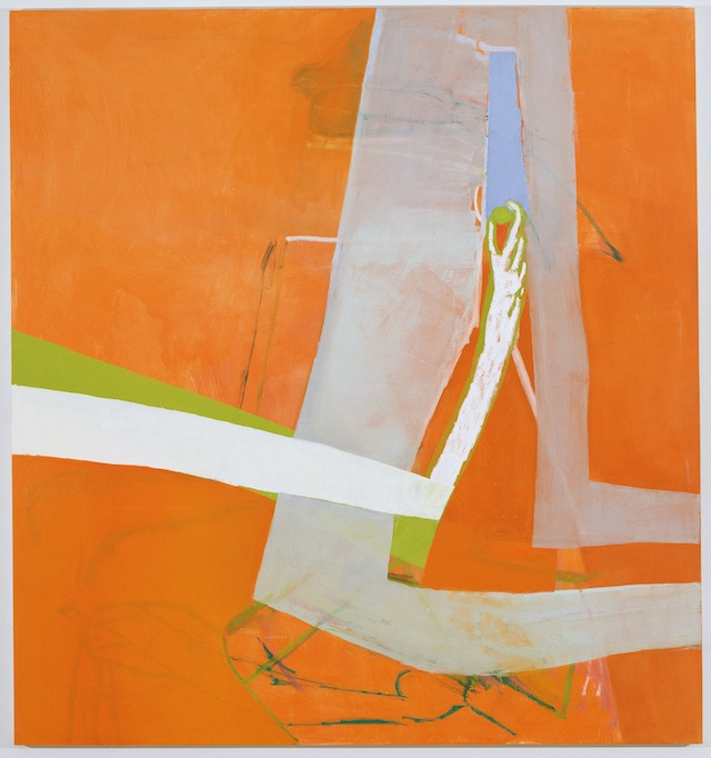 """Amy Sillman, """"Shade"""", (2010), oil on canvas, 90 x 84 inches. Private collection (photo by John Berens)"""
