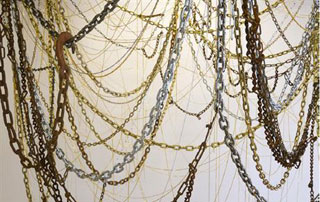 "Detail of Jean Shin's ""Crown"" (2014) (via bricartsmedia.org)"