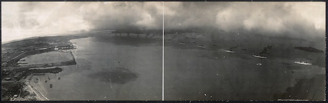 George R. Lawrence, Fleet entering Golden Gate (1908) (via Library of Congress)