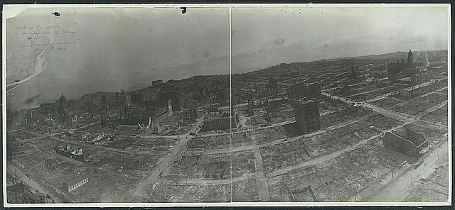 George R. Lawrence, San Francisco in ruins (1906) (via Library of Congress)