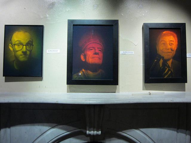 "Ana Maria Nicholson, ""Keith Haring,"" ""Bishop John Moore,"" and ""Tony Bennett"""