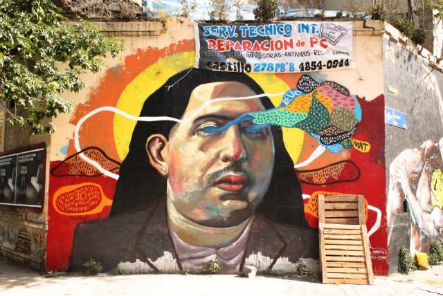 Mural by Ever in Castillo 201, Buenos Aire (via Graffitimundo/Google Cultural Institute)