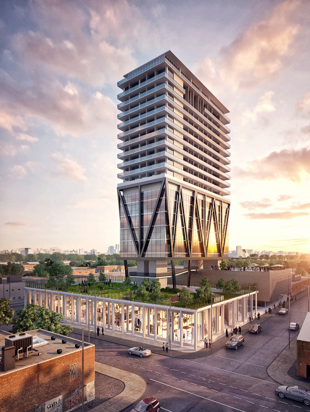 A rendering of the Level Hotel Brooklyn