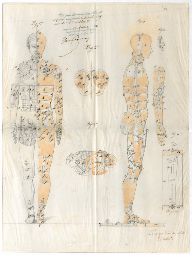 12. Jean-Désiré Leblond (active mid- to late 19th century), Patent for improvements to a life-size artist's mannequin, 1849