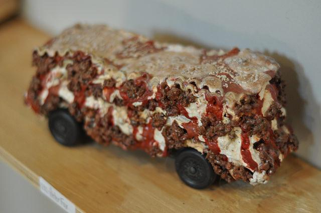 Peter Fox's lasagna inspired racer