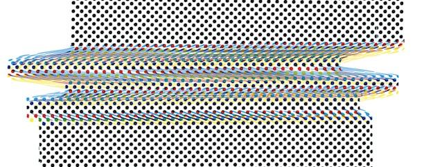 Sara Cwynar, CMYK Print Test Panel (Darkroom Manuals) (detail), (2014), set of four silkscreen prints, NY Art Book Fair fundraising edition.