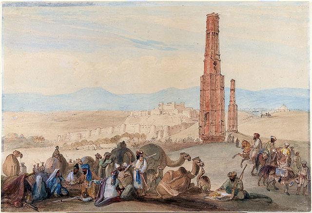 The Victory Towers, painted by James Atkinson around 1839 (image via Wikimedia)