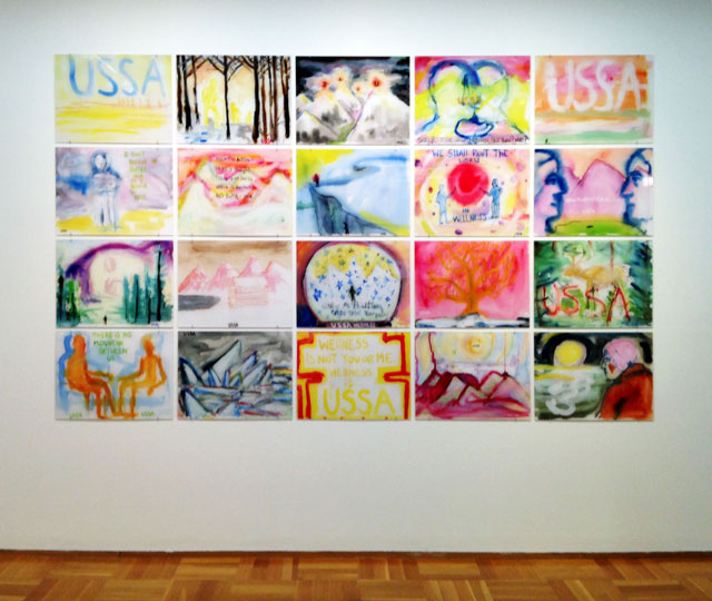 Installation view, Zachary Cahill's 'Snow' at MCA Chicago