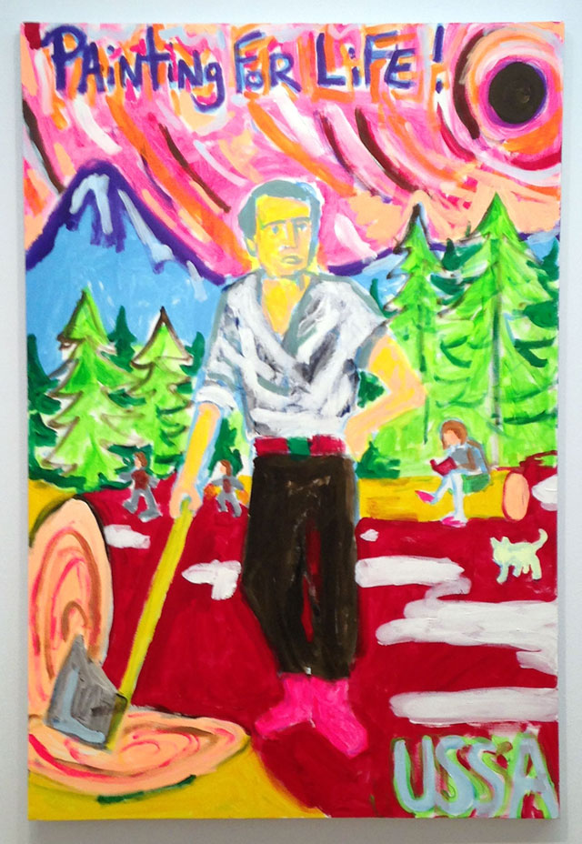 """Zach Cahill, """"Painting for Life"""" (2014), acrylic on canvas"""