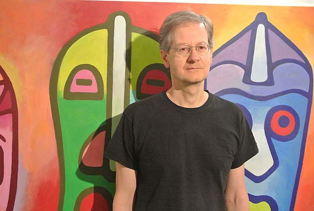 Charles Thomson pictured at his show at Trispace