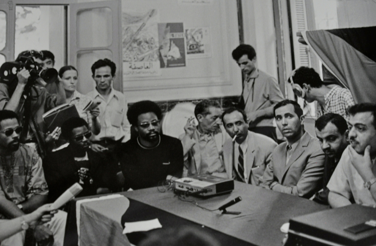 Black Panthers with members of the Palestinian Liberation Organization in …