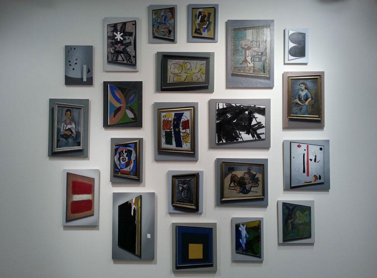 "David Klamen, ""Untitled"" (2014) multipanel oil on canvas"