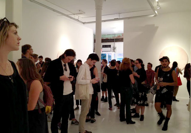 Crowds gathered at The Hole for opening night of 'Future Feminism' (click to enlarge)