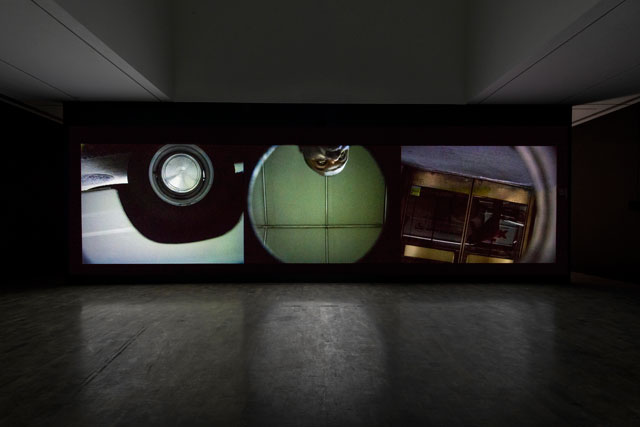 Installation view, 'Steve McQueen: Drumroll' at MOCA Pacific Design Center (photo by Joshua White)