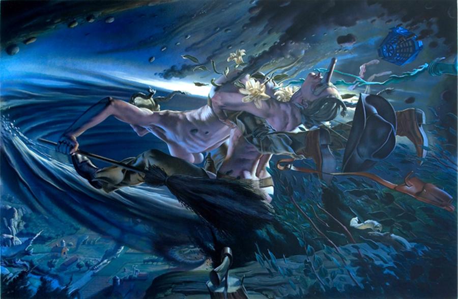 "Nicola Verlato, ""Mothers"" (2005), oil on linen, 42 x 64 inches"