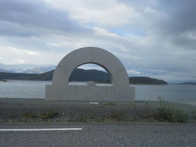 "Kristján Gudmundsson, ""Protactus"" (1993), granite, h: 316 cm."