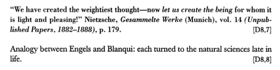 Figure 2. From Walter Benjamin, The Arcades Project, trans. Howard Eiland and Kevin McLaughlin (Cambridge, MA: Belknap, 1999), p. 116.
