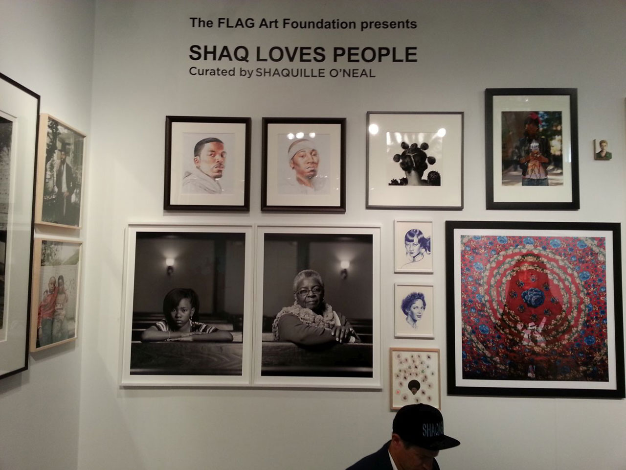 Shaquille O'Neal's booth