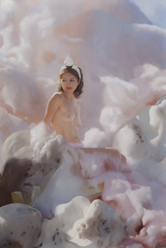 Will Cotton, Fairy Floss, 2009, Oil on linen, 83.25 x 56.25 inches (all images courtesy Rizzoli)