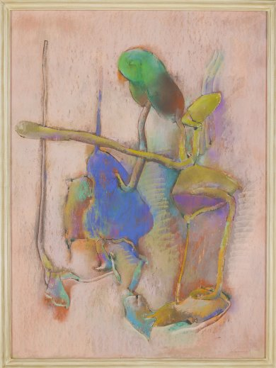John Altoon, Untitled, 1964, from the Hyperion Series, pastel and ink on illustration board, 56 × 40 inches, Dr. David and Arline Edelbaum. © 2014 Estate of John Altoon, photo © 2014 Museum Associates/LACMA.