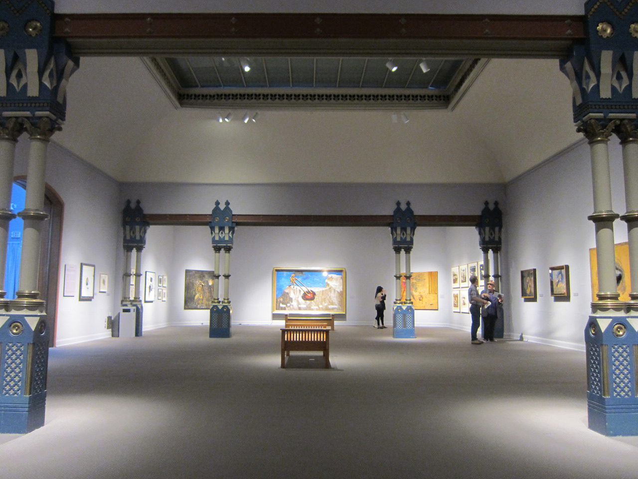 """Installation view of """"David Lynch: The Unified Field"""""""