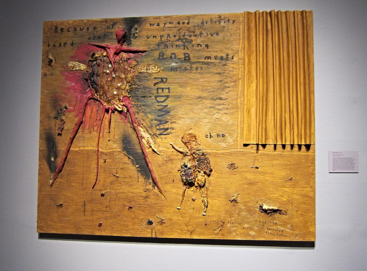 """Mister Redman"" (2000), oil & mixed media on canvas"