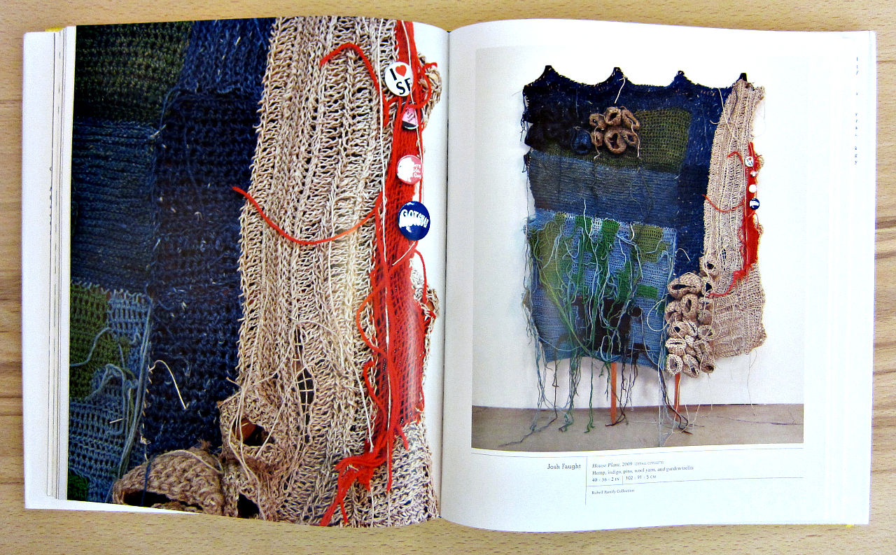 """Art by Josh Faught in """"Fiber: Sculpture 1960-Present"""" (photograph by the author)"""