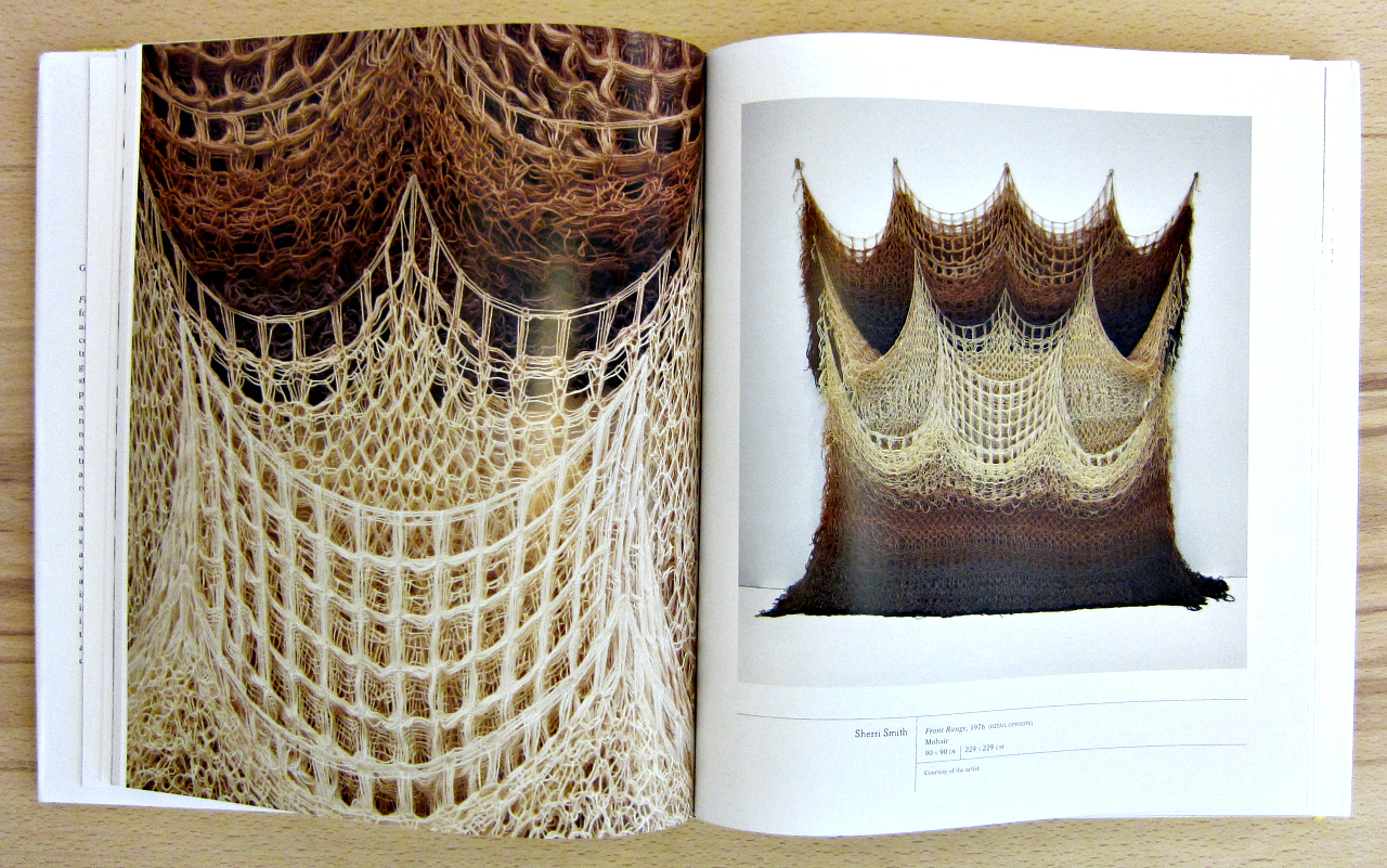 """Art by Sherri Smith in """"Fiber: Sculpture 1960-Present"""" (photograph by the author)"""