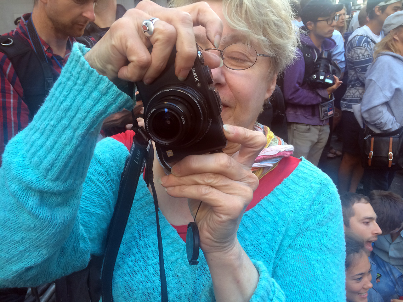 Martha Rosler (photo by Hrag Vartanian/Hyperallergic)
