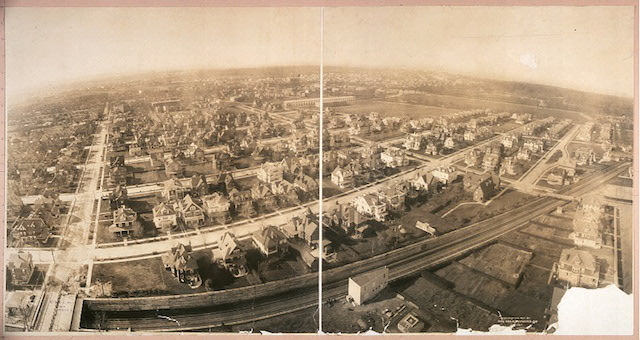 George R. Lawrence, Bird's eye view of Prospect Park, South, Brooklyn (1907) (via Library of Congress)