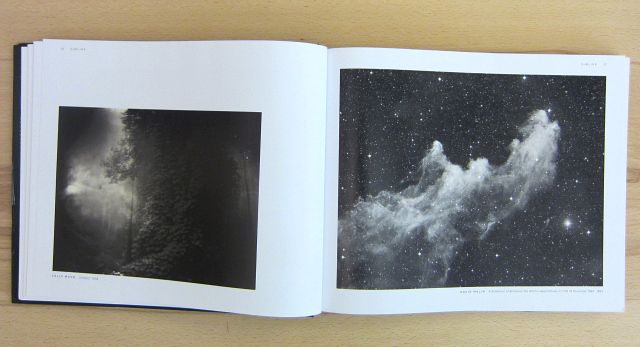 """Photograph by Sally Mann alongside one by David Malin in the """"Sublime"""" chapter"""