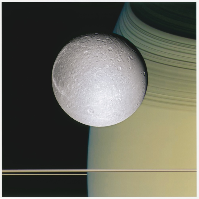 NASA, Ringside with Dione, 2005, NASA/Jet Populsion Laboratory/Space Science Institute