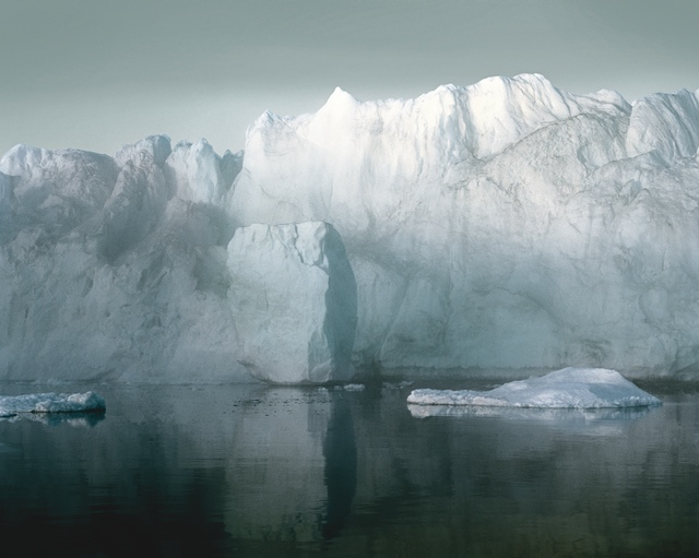 """Olaf Otto Becker, Ilulissat Icefjord 7, 07/2003, 69°11'59""""N, 51°08'08""""W, from the series Broken Line, 2003, archival pigment print, ©Olaf Otto Becker"""
