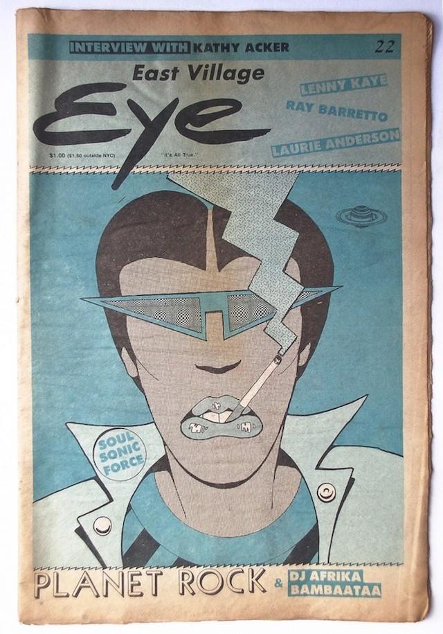Cover of East Village Eye, issue 22 (via printedmatter.org)