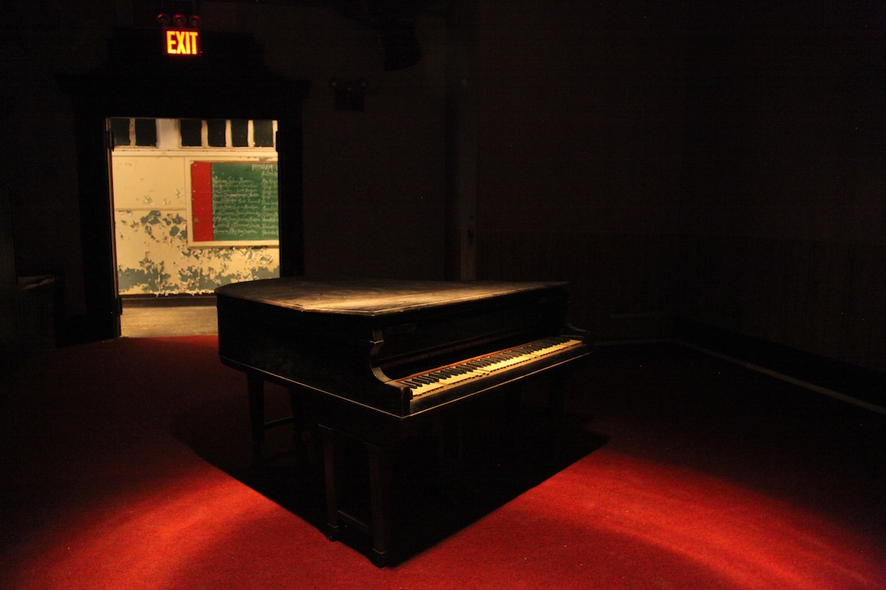 The piano in Bethel Tabernacle AME Church