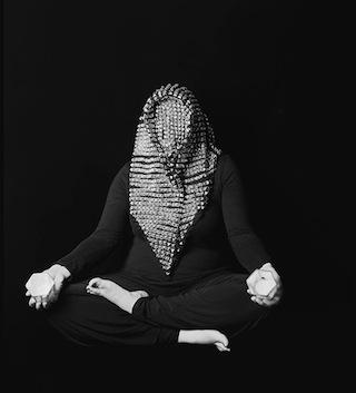 "Roya Falahi, ""Headbang/Holding Space"", 2011 Silver gelatin print, 11x14 in. (via vincentpriceartmuseum.org)"