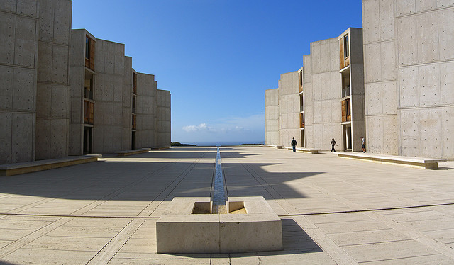 The Salk Institute designed by Louis Kahn, one of the Keeping It Modern grantees (photograph by Jason Taellious, via Flickr)