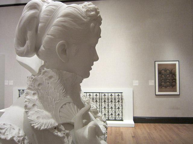 Portrait bust of Eliza Cisco Dunlop (1906), marble