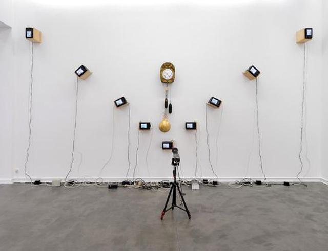 "Nam June Paik, ""Musical Clock"" (1989) (Photo courtesy Galerie Mitterrand)"