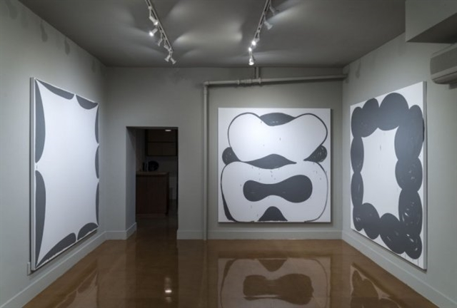 "Installation view of Amy Feldman's ""High Signs"" at Blackston Gallery. (All photographs courtesy of Blackston Gallery)"