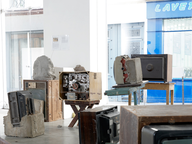 Wolf Vostell, 'Endogène Depression' installation view