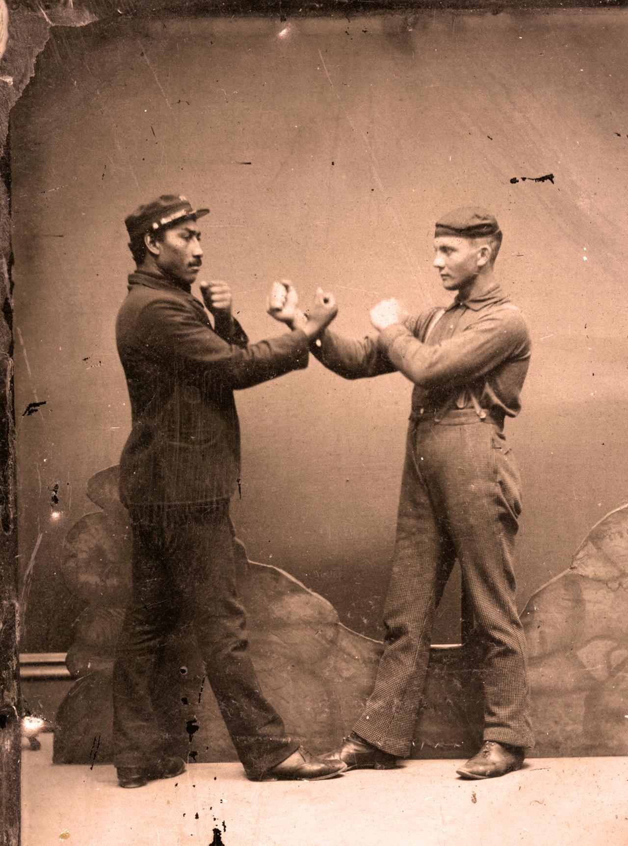 Anonymous, Boxers (c.1880), tintype