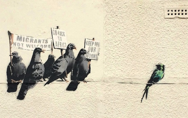 A mural by Banksy accused of racism (Image courtesy of Banksy.co.uk)
