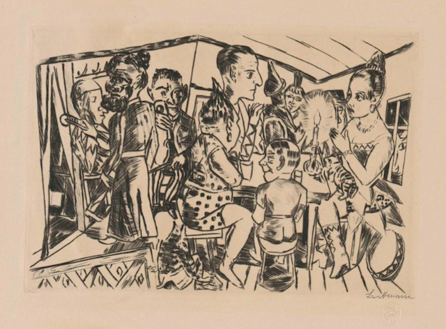 """Max Beckmann, """"Behind the Wings,"""" 1922. Museum Works of Art Fund. © Max Beckmann. (Courtesy of the RISD Museum, Providence, RI)"""