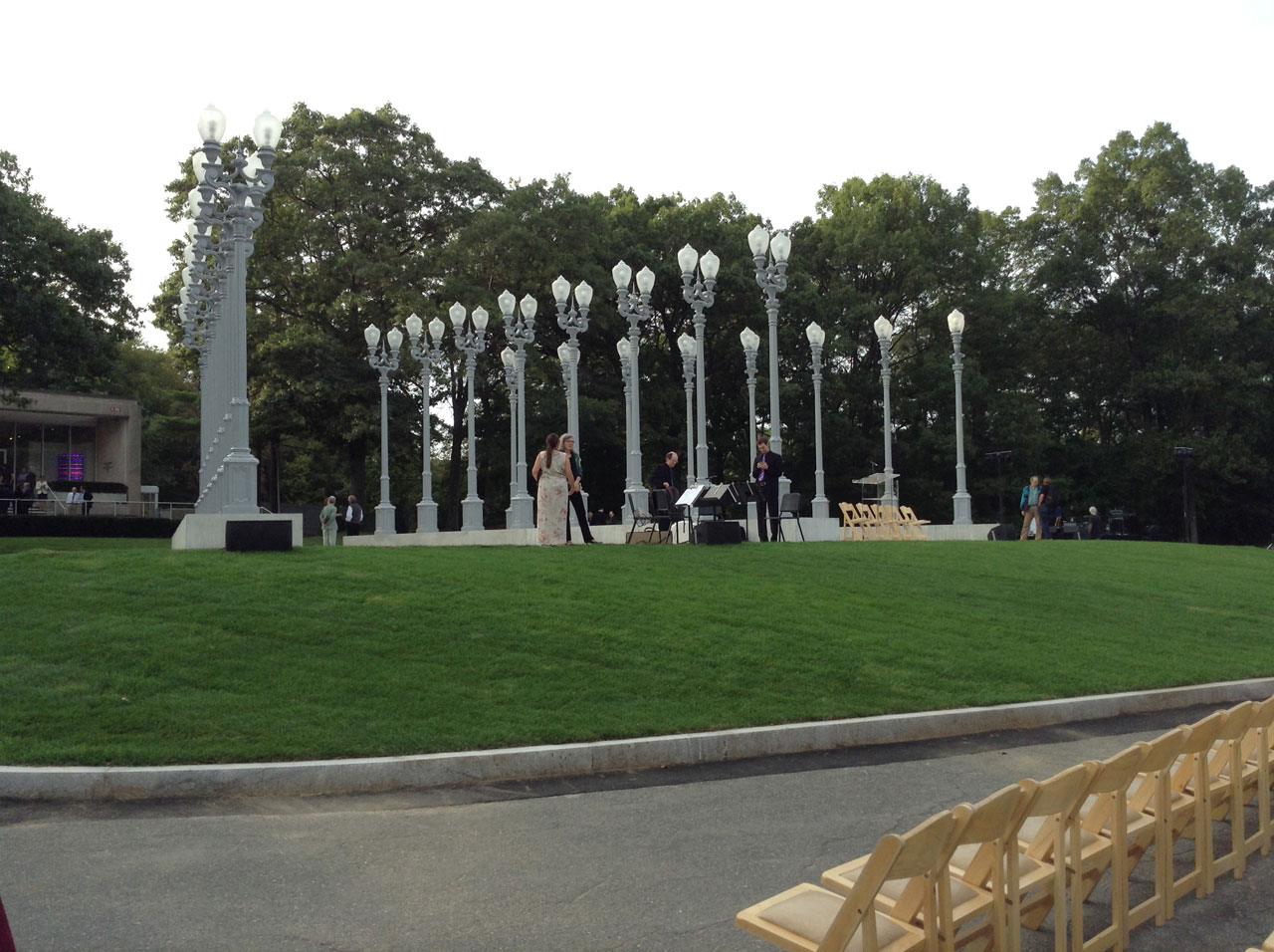 """Chris Burden, """"Light of Reason"""" at the Rose Art Museum (click to enlarge)"""