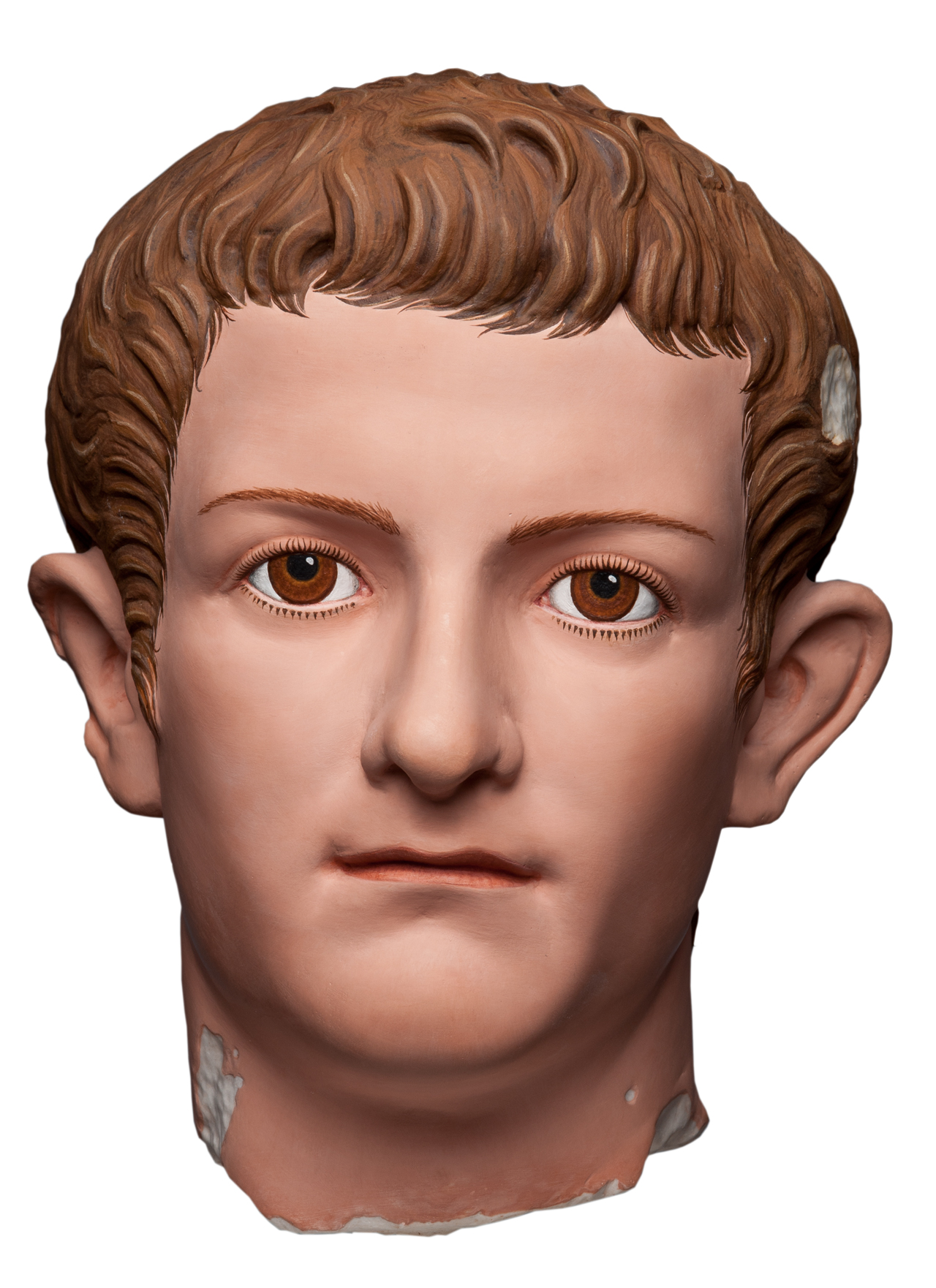 Caligula (reconstruction), 37-41 CE (2011), marble. h: 28 cm, Archäologischen Institut der Universität Göttingen and Stiftung Archäologie, Munich