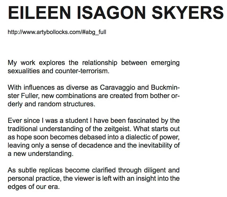 Eileen Isagon Skyers's statement